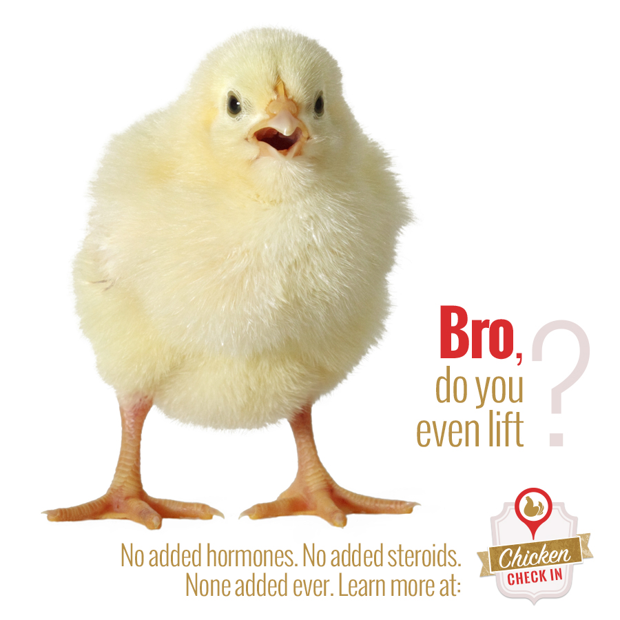 There are no added hormones or steroids in any chicken meat
